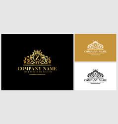 Letter z logo design luxury gold vector
