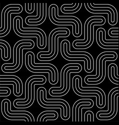 Line art modern seamless pattern vector