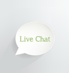 Live Chat vector image