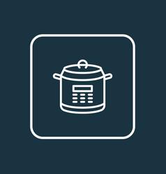 Multicooker icon line symbol premium quality vector