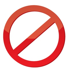 Not Allowed Sign vector
