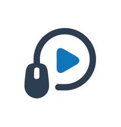 Online video marketing icon vector
