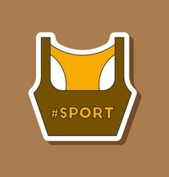 Paper sticker on stylish background sports top vector