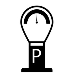 Parking time icon simple style vector