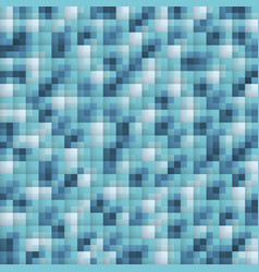 Pixel abstract blue mosaic background vector
