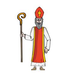 Saint nicholas in bishops clothing vector
