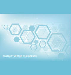 scientific molecule background for medicine vector image