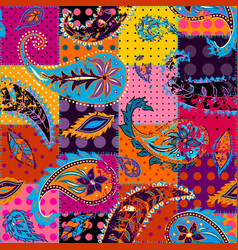 seamless pattern paisley vector image