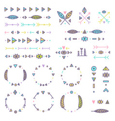 set of tribal elements vector image