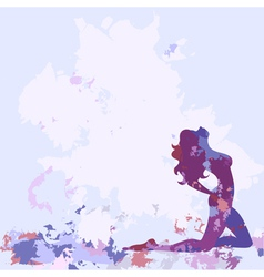Silhouette watercolor lilac vector