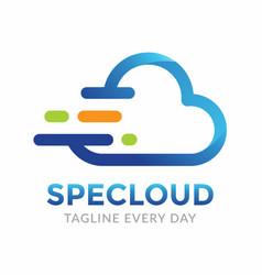 Speed cloud logo design template vector