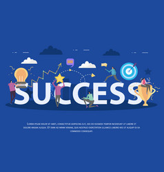 Success flat background composition vector