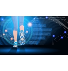 Technology sport background vector