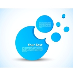Template with 3d circles vector image