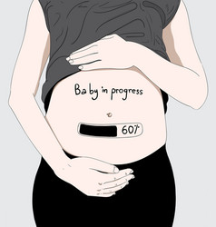 this girl is pregnant in middle age vector image