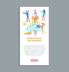 Tools to grow your business website with info vector