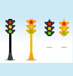 traffic lights vector image