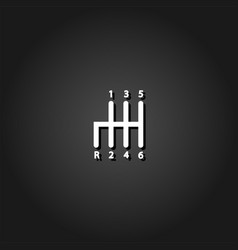 transmission icon flat vector image