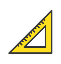 Triangle ruler filled outline icon carpenter and vector