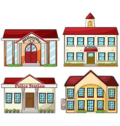 Useful buildings vector image