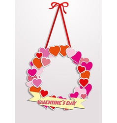 Valentine Wreath vector image