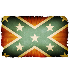 Vintage us confederate flag poster background vector