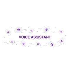 Voice assistant infographic 10 steps circle design vector