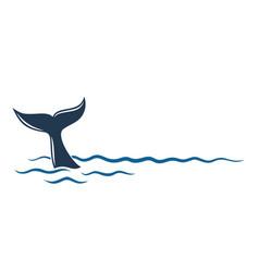 Whale symbol in sea vector