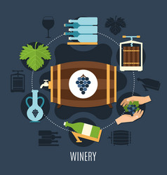 winery flat concept vector image