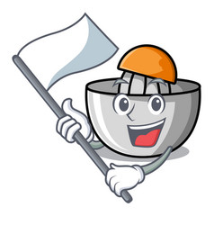 with flag juicer mascot cartoon style vector image