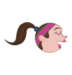 Woman head icon Cartoon and avatar design vector image