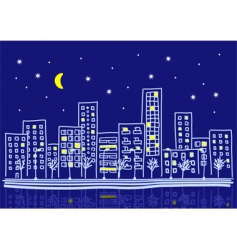 cartoon urban night vector image vector image