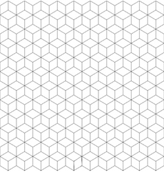 Gray and white cubes seamless pattern vector image vector image