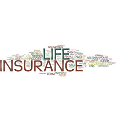 Life insurance over over age or even age text vector