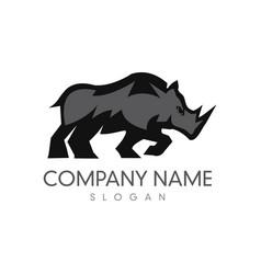 rhino logo 3 vector image vector image