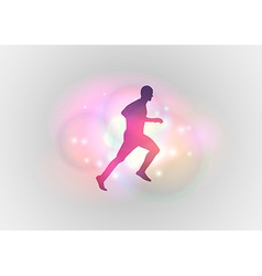 sport abstract runner vector image vector image