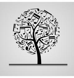 Black music tree vector image vector image