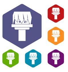 box magic icons set vector image vector image