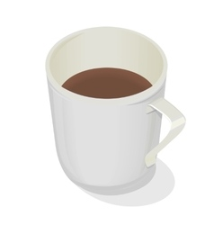 Cup of Coffee Isolated Design Flat Hot Beverage vector image vector image