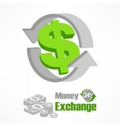 Dollar symbol in green vector image vector image