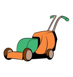 lawn mower icon cartoon vector image