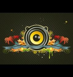 music scene vector image vector image