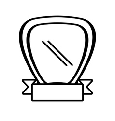 Shield ribbon stamp decor outline empty vector