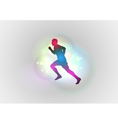 sport abstract runner left vector image