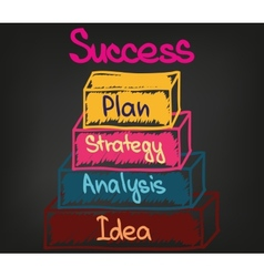 Success chart 2 vector image vector image