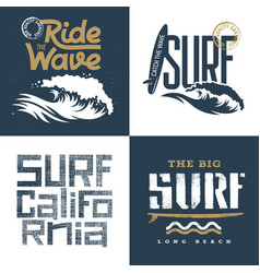 surfing set 002 vector image vector image