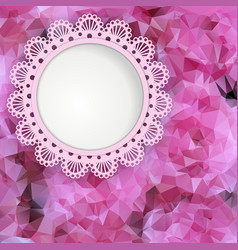 Beautiful card with a background of roses vector image