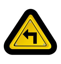emblem notice with arrow icon vector image vector image