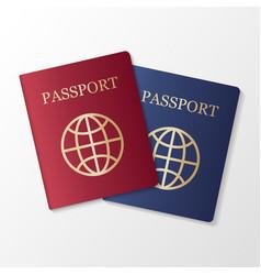 international passport on white background vector image