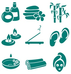 minimalistic spa icons set vector image